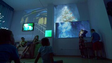 Новогодняя сенсорная комната 1